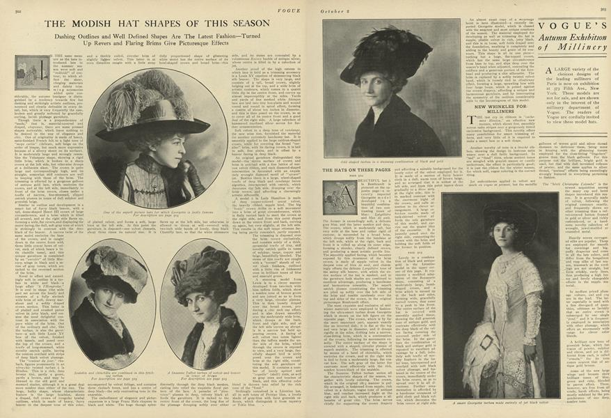 The Modish Hat Shapes of this Season