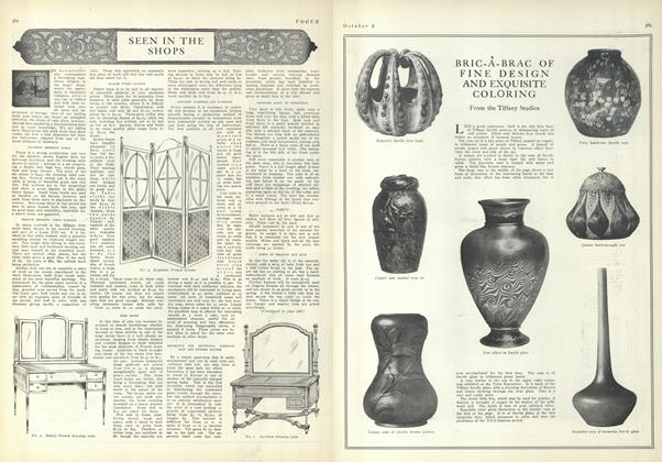 Article Preview: Seen in the Shops, October 9 1909 | Vogue
