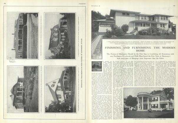 Article Preview: Finishing and Furnishing the Modern Home, October 9 1909 | Vogue