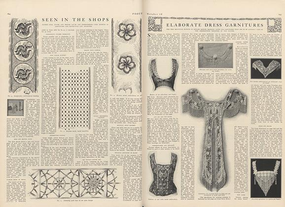 Article Preview: Seen in the Shops, October 16 1909 | Vogue