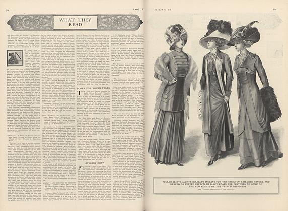 Article Preview: What They Read, October 16 1909 | Vogue