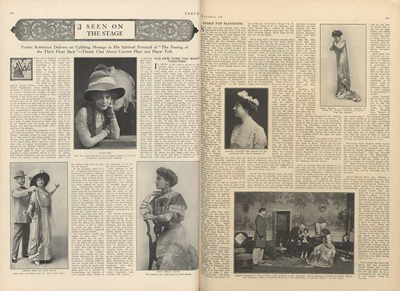 Article Preview: Seen on the Stage, October 16 1909 | Vogue