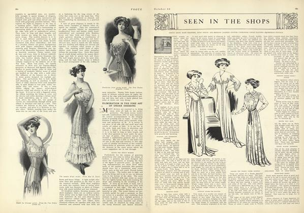 Article Preview: Seen in the Shops, October 23 1909 | Vogue