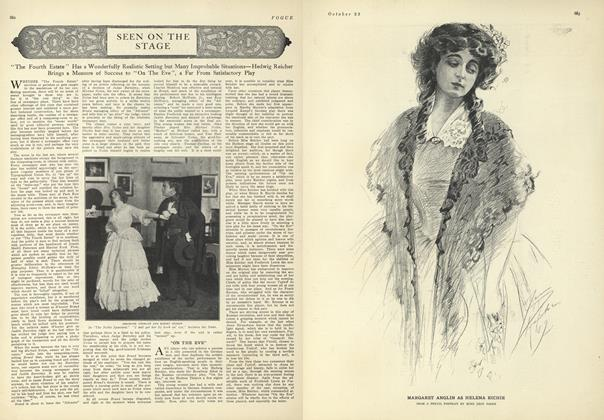 Article Preview: Seen on the Stage, October 23 1909 | Vogue