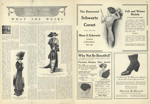Article Preview: What She Wears, October 23 1909 | Vogue
