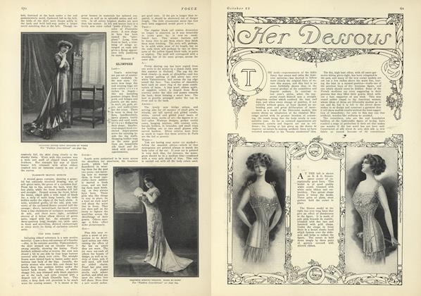 Article Preview: Her Dessous, October 23 1909 | Vogue