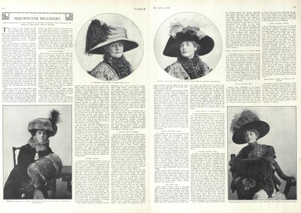 Article Preview: Mid-Winter Millinery, October 30 1909 | Vogue