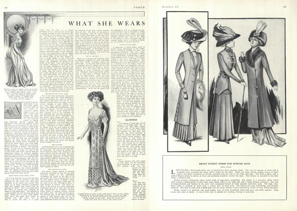 Article Preview: What She Wears, October 30 1909 | Vogue