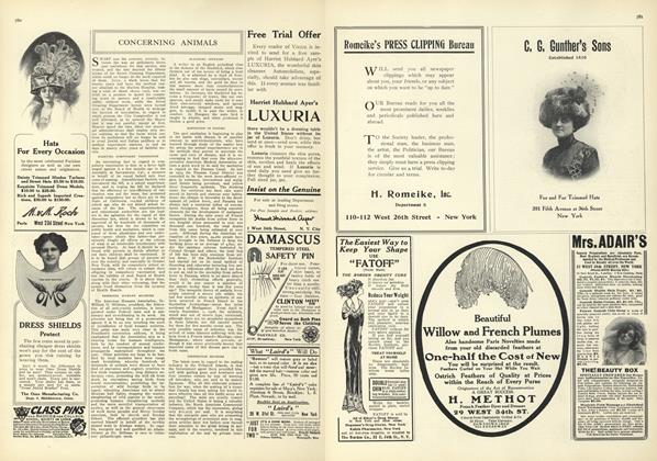 Article Preview: Concerning Animals, November 6 1909 | Vogue