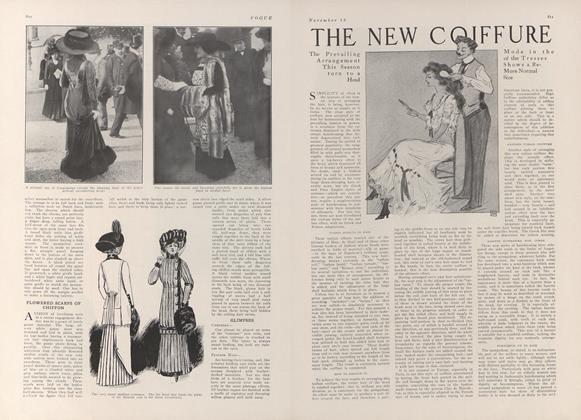 Article Preview: The New Coiffure, November 13 1909 | Vogue