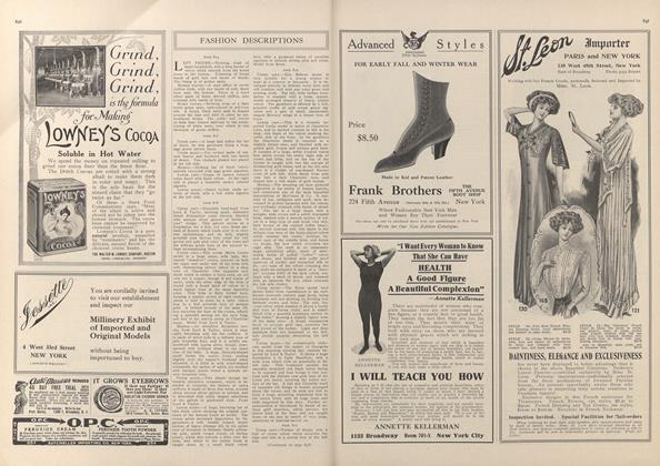 Article Preview: Fashion Descriptions, November 13 1909 | Vogue