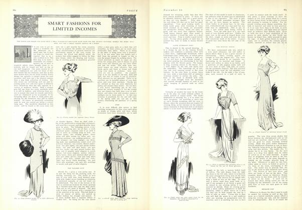 Article Preview: Smart Fashions for Limited Incomes, November 20 1909 | Vogue