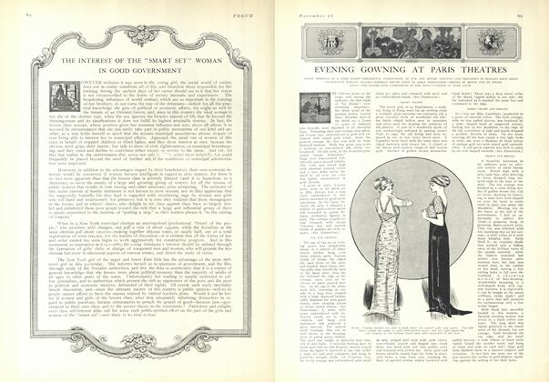 "Article Preview: The Interest of the ""Smart Set"" Woman in Good Government, November 20 1909 