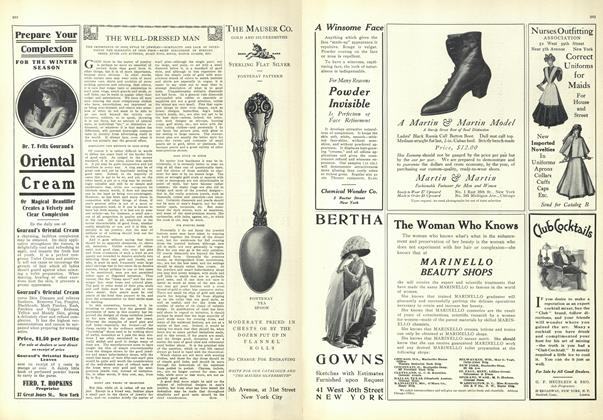 Article Preview: The Well-Dressed Man, November 27 1909 | Vogue