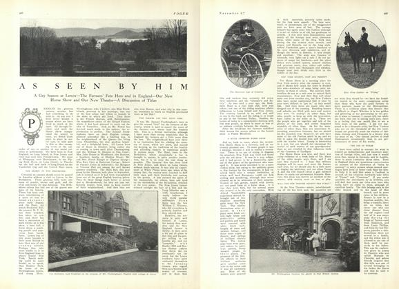 Article Preview: As Seen by Him, November 27 1909 | Vogue