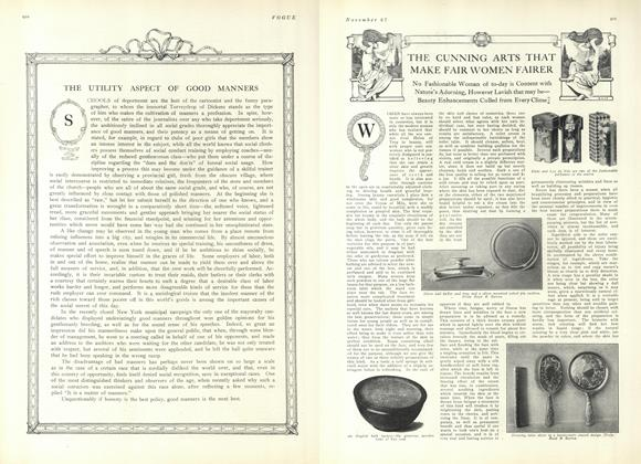 Article Preview: The Cunning Arts that Make Fair Women Fairer, November 27 1909 | Vogue