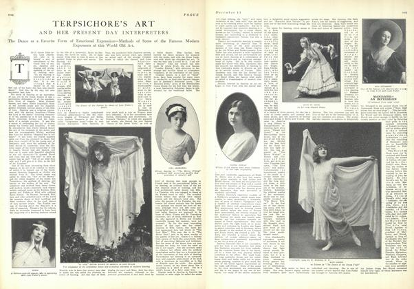 Article Preview: Terpsichore's Art and Her Present Day Interpreters, December 11 1909 | Vogue