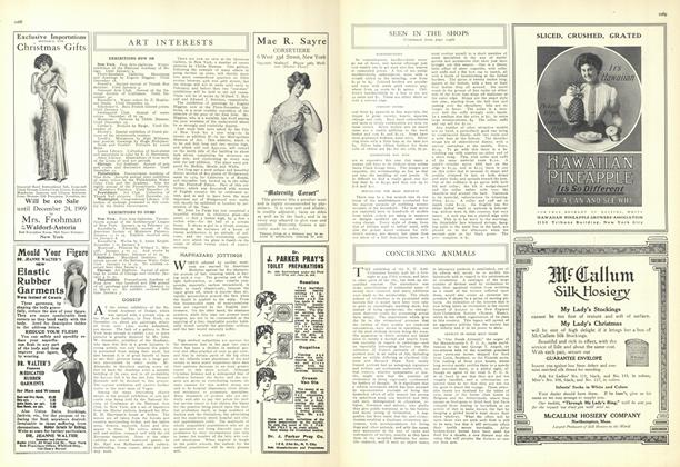 Article Preview: Art Interests, December 18 1909 | Vogue