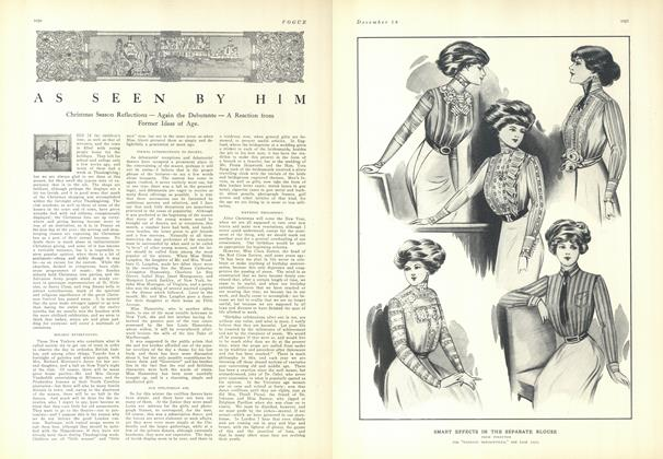 Article Preview: As Seen by Him, December 18 1909 | Vogue