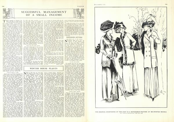 Article Preview: Successful Management of a Small Income, December 25 1909 | Vogue