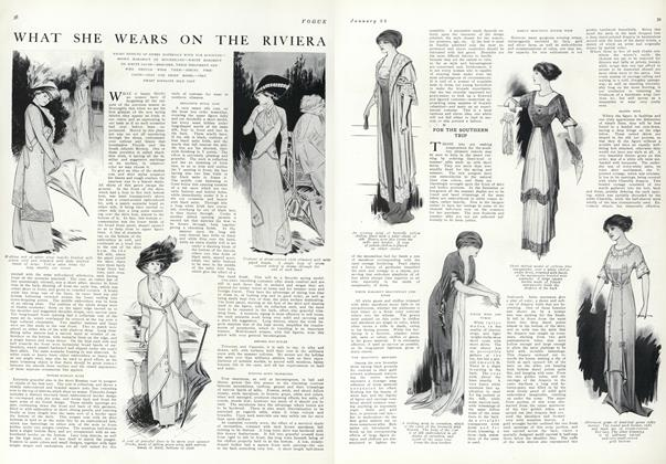 Article Preview: What She Wears on the Riviera, January 22 1910 | Vogue