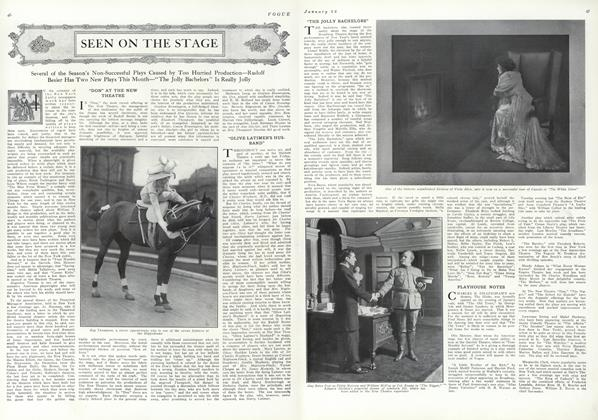 Article Preview: Seen on the Stage, January 22 1910 | Vogue
