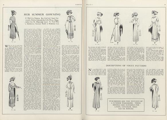 Descriptions of Vogue Patterns