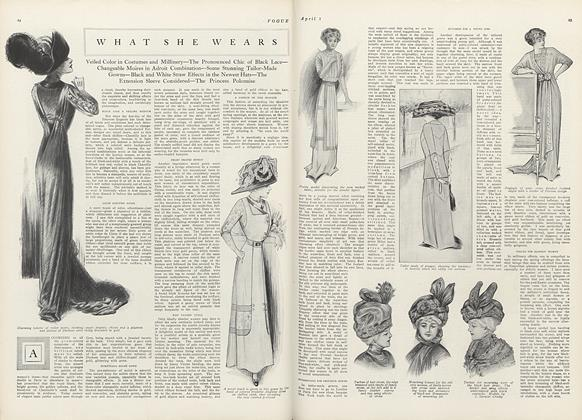 Article Preview: What She Wears, April 1 1910 | Vogue