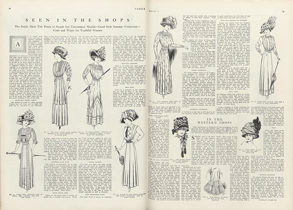 Article Preview: Seen in the Shops, April 1 1910 | Vogue