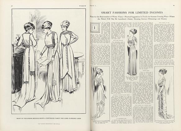 Article Preview: Smart Fashions for Limited Incomes, April 1 1910 | Vogue