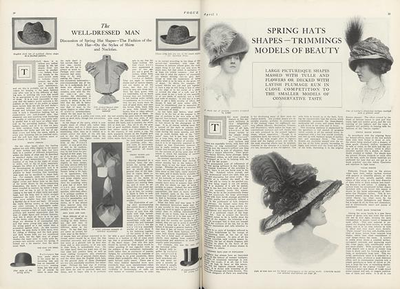 Article Preview: The Well-Dressed Man, April 1 1910 | Vogue