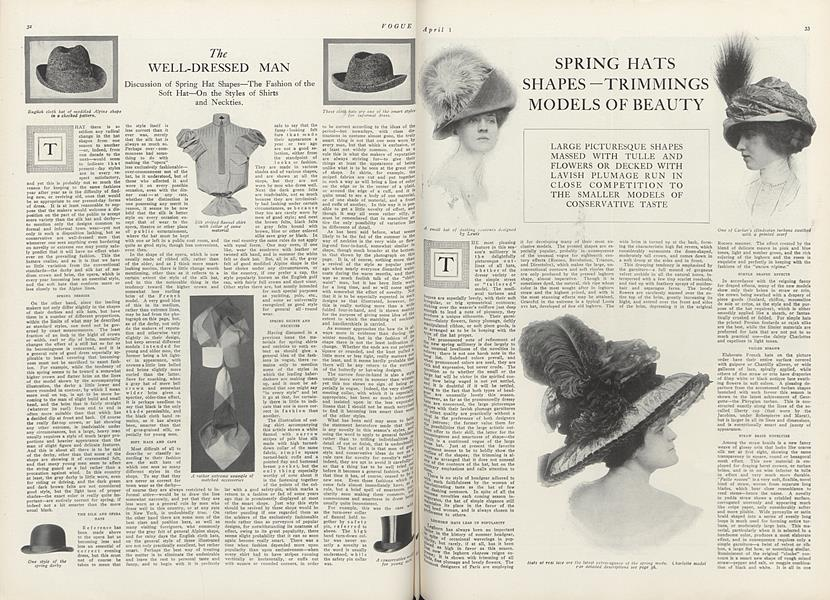 Fifty Spring Hats—Models from French Designers