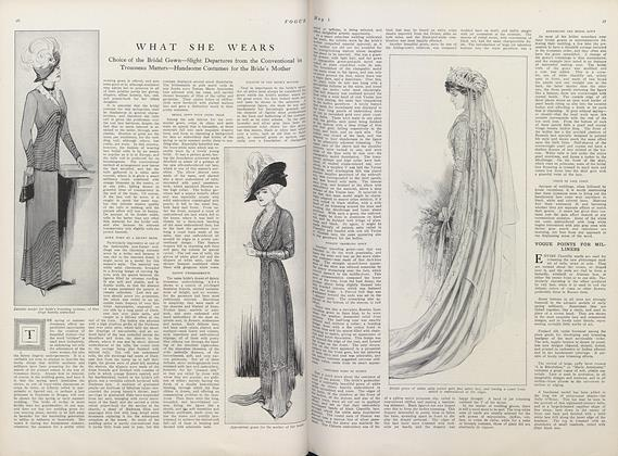 Article Preview: What She Wears, May 1 1910 | Vogue