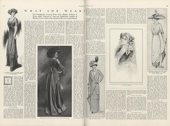 Article Preview: What She Wears, June 15 1910 | Vogue