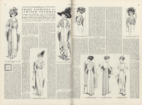 Article Preview: Smart Fashions for Limited Incomes, June 15 1910 | Vogue