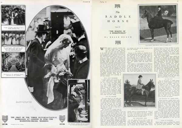 """The Saddle Horse–Part IV: """"The Making of a Horsewoman"""""""