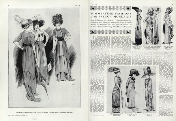 Summertime Fashions of the French Mondaine