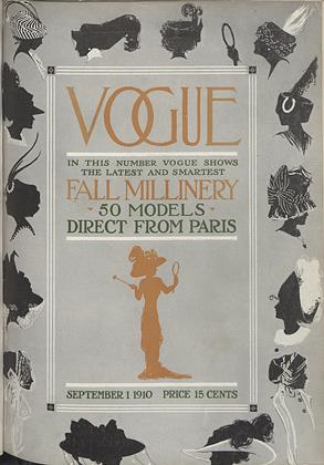 Cover for the September 1 1910 issue
