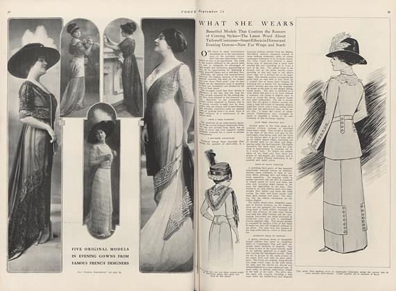 Article Preview: What She Wears, September 15 1910 | Vogue