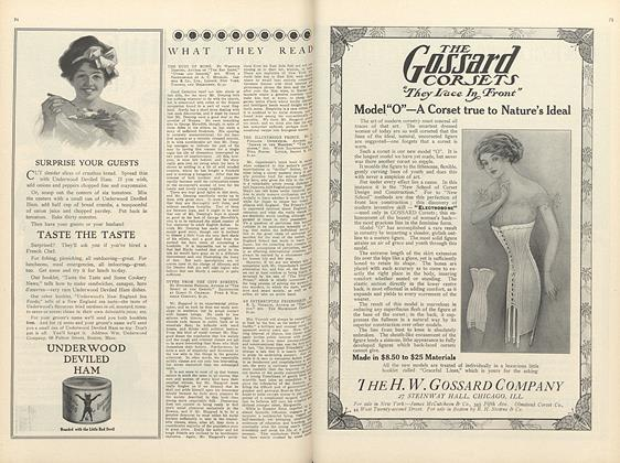 Article Preview: What They Read, September 15 1910 | Vogue