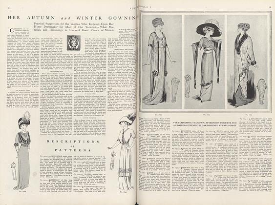 Article Preview: Descriptions of Patterns, October 1 1910 | Vogue