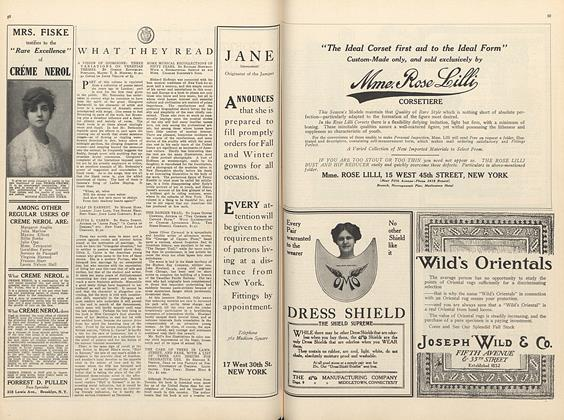 Article Preview: What They Read, October 1 1910 | Vogue
