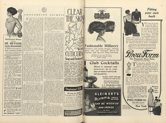 Article Preview: Concerning Animals, October 1 1910 | Vogue
