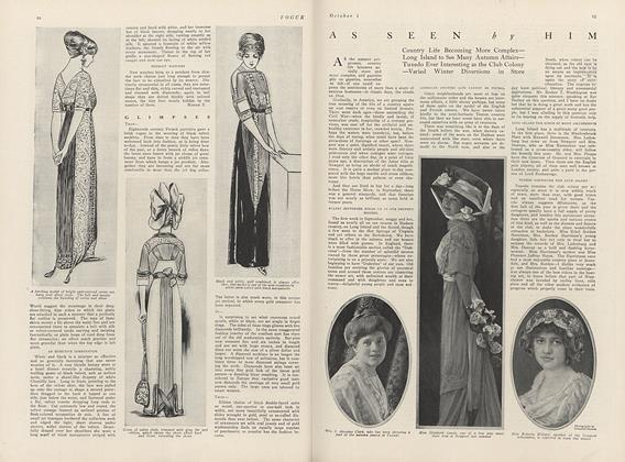 Article Preview: As Seen by Him, October 1 1910 | Vogue