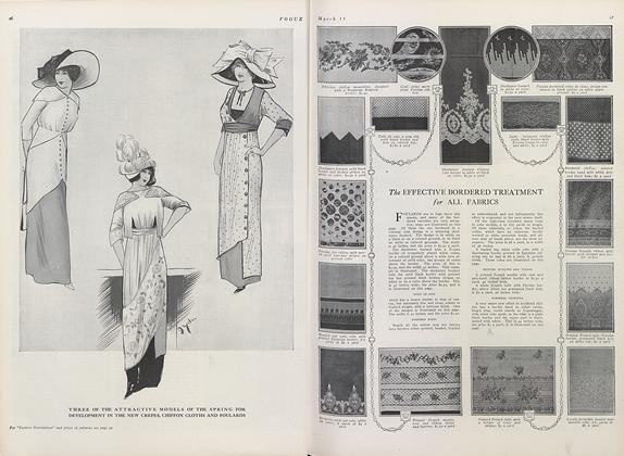 Article Preview: This Season's Fabrics and Novelties, March 15 1911 | Vogue