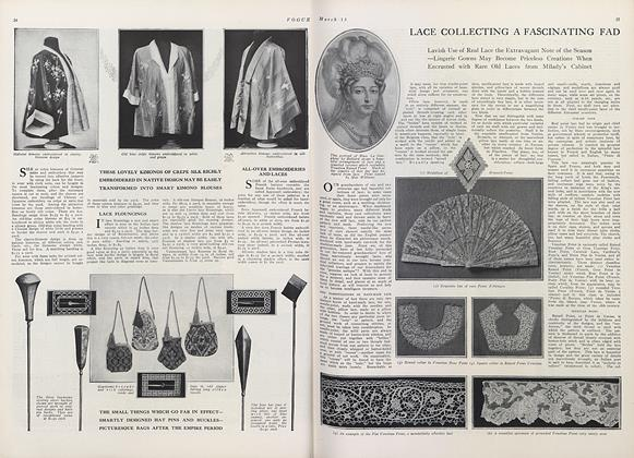 Article Preview: Lace Collecting a Fascinating Fad, March 15 1911 | Vogue