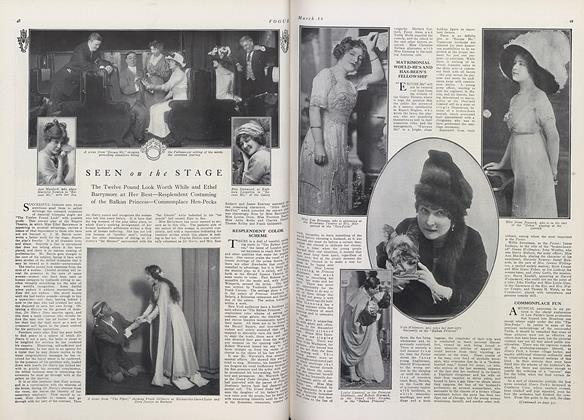 Article Preview: Seen on the Stage, March 15 1911 | Vogue