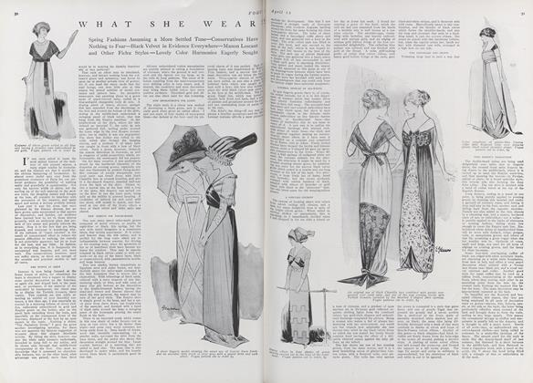 Article Preview: What She Wears, April 15 1911 | Vogue