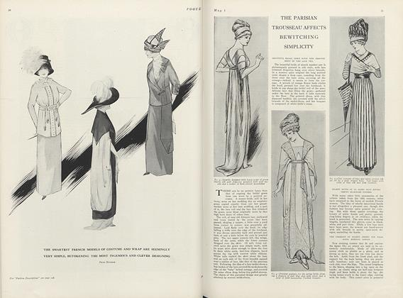 Article Preview: The Parisian Trousseau Affects Bewitching Simplicity, May 1 1911 | Vogue