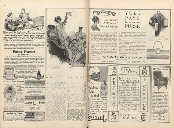 Article Preview: What They Read, May 1 1911 | Vogue